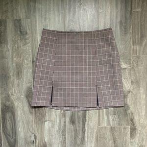 Aritzia Sunday Best Notched Check Skirt